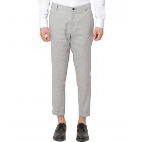 Pantaloni OUTFIT in misto lino a fantasia da uomo rif. OF1S1S9P060