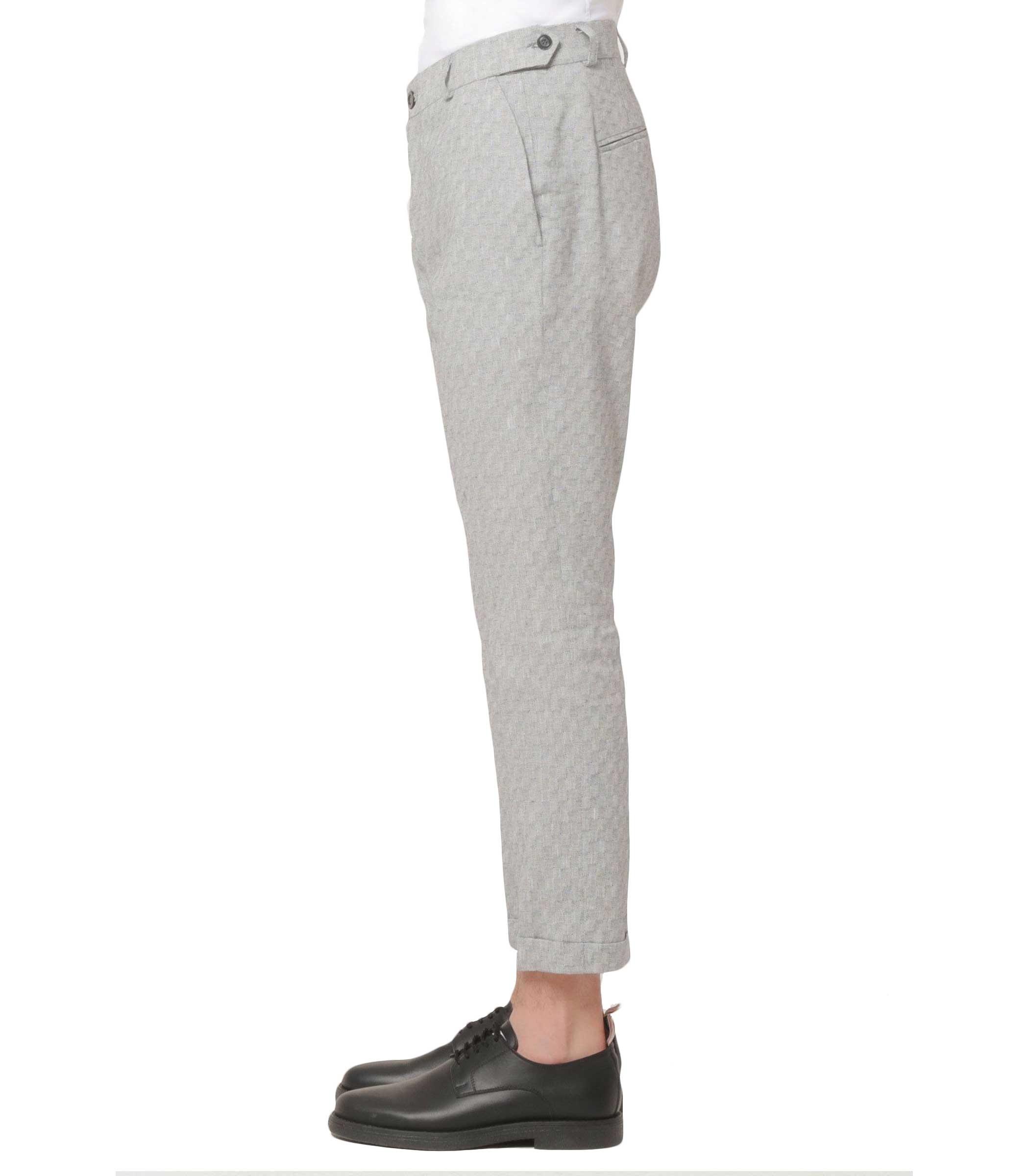 868030456b48 Pantaloni OUTFIT in misto lino a fantasia da uomo rif. OF1S1S9P060