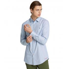 Camicia Trussardi close fit a fantasia micro onde da uomo rif. 52C00075 1T002246