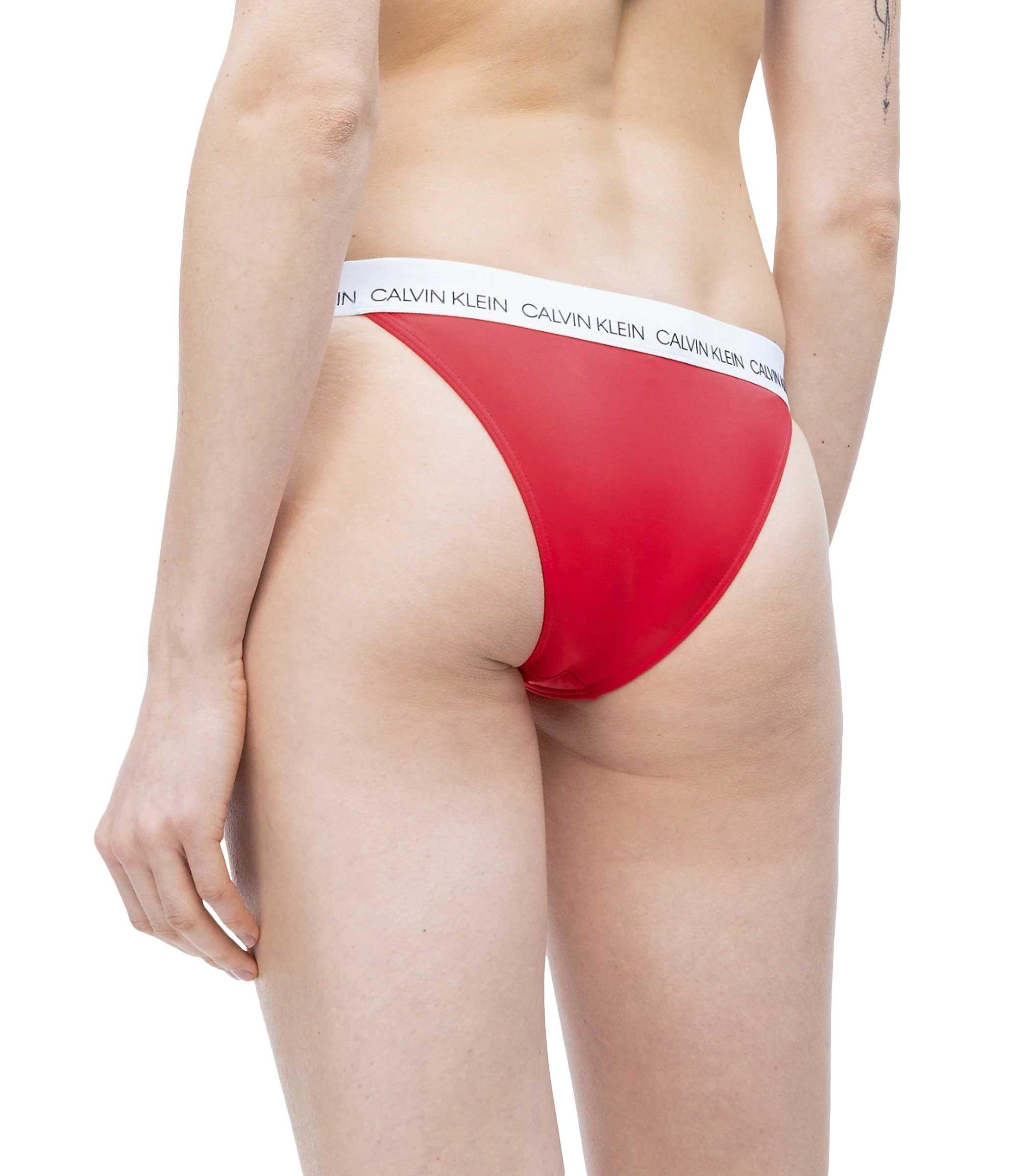 001396d29dfa KW0KW00667 Costume slip bikini brasiliano Calvin Klein con logo da donna  rif.