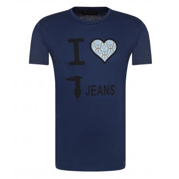T-shirt Trussardi girocollo con stampa da uomo rif. 52T00079 1T000789