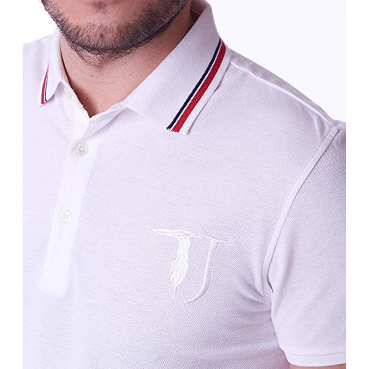 Polo Trussardi con collo con righe a contrasto da uomo rif. 52T00115 1T000784