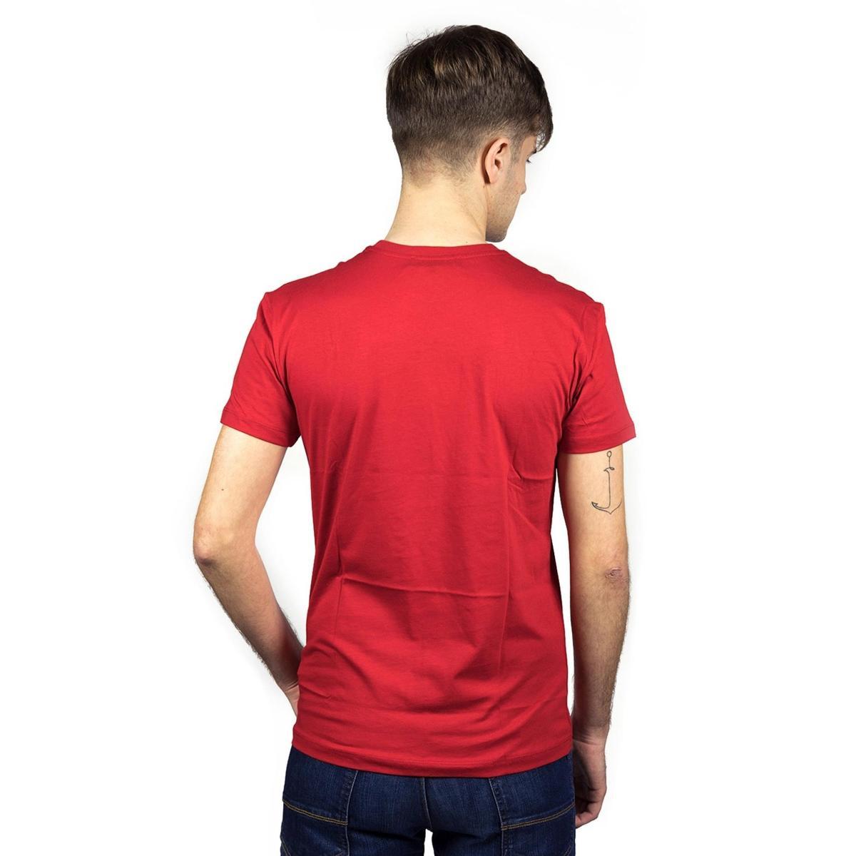T-shirt Trussardi girocollo con stampa sul petto da uomo rif. 52T00120 1T000789