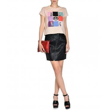 T-shirt Trussardi corta con stampa da donna rif. 56T00075 1T000797