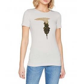 T-shirt Trussardi con maxi logo in paillettes da donna rif. 56T00079 1T000798