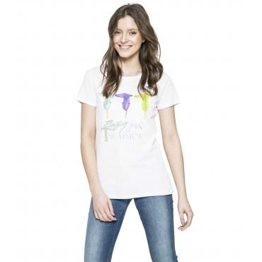 T-shirt Trussardi con stampa da donna rif. 56T00070 1T000798