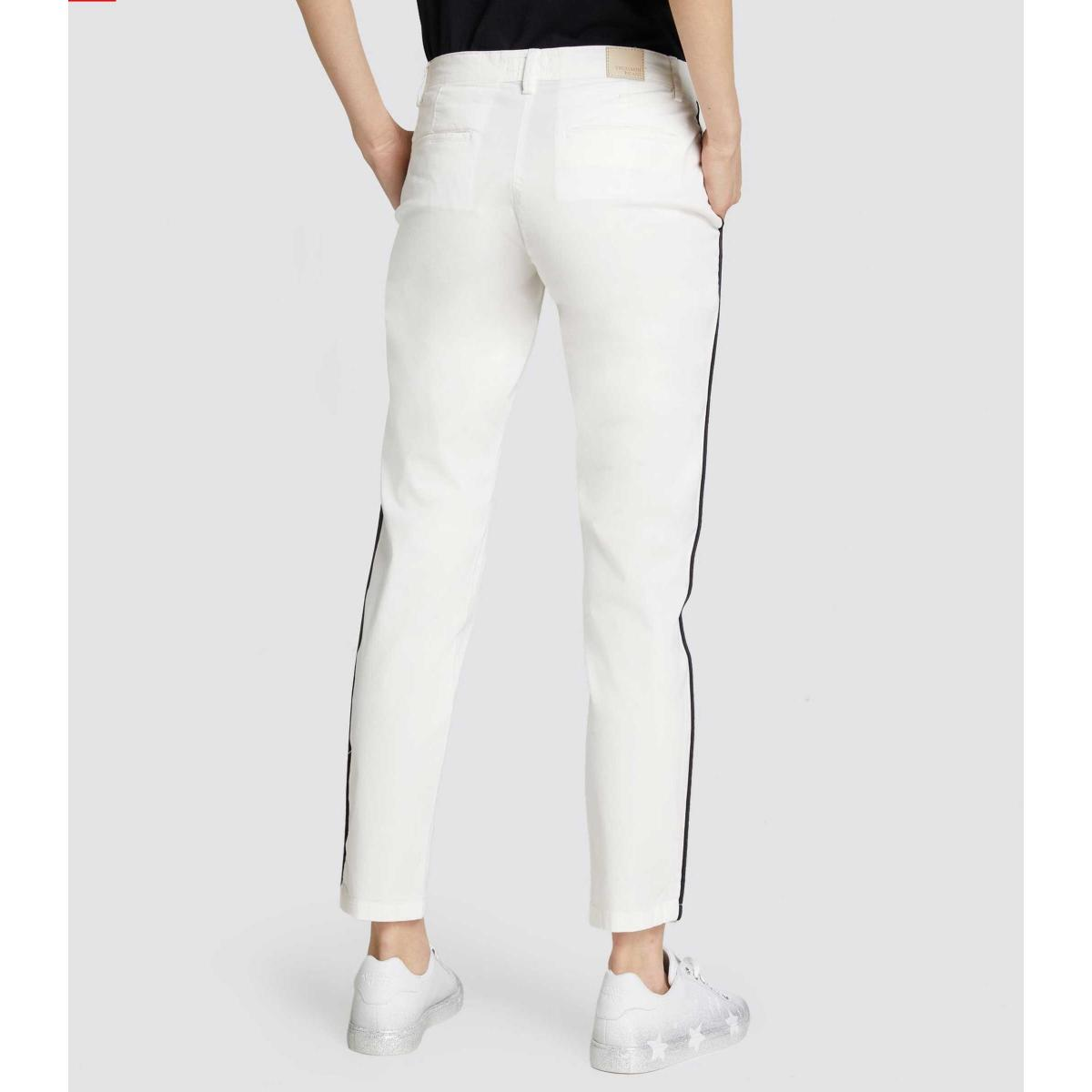 Pantaloni Trussardi 260 chinos con banda da donna rif. 56P00001 1T002325