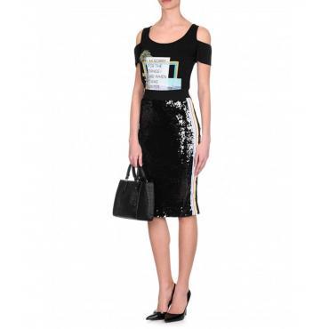 T-shirt Trussardi con stampa slim fit da donna rif. 56T00161 1T001640