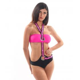 Costume Bikini 2 pezzi con top a fascia Parental Advisory da donna rif. AD06D