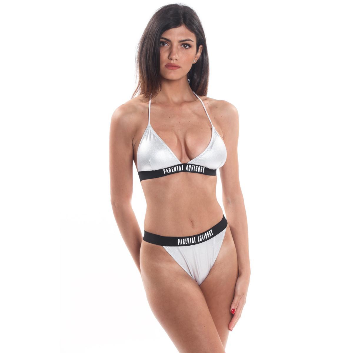 Costume Bikini 2 pezzi con top a triangolo Parental Advisory da donna rif. AD12D