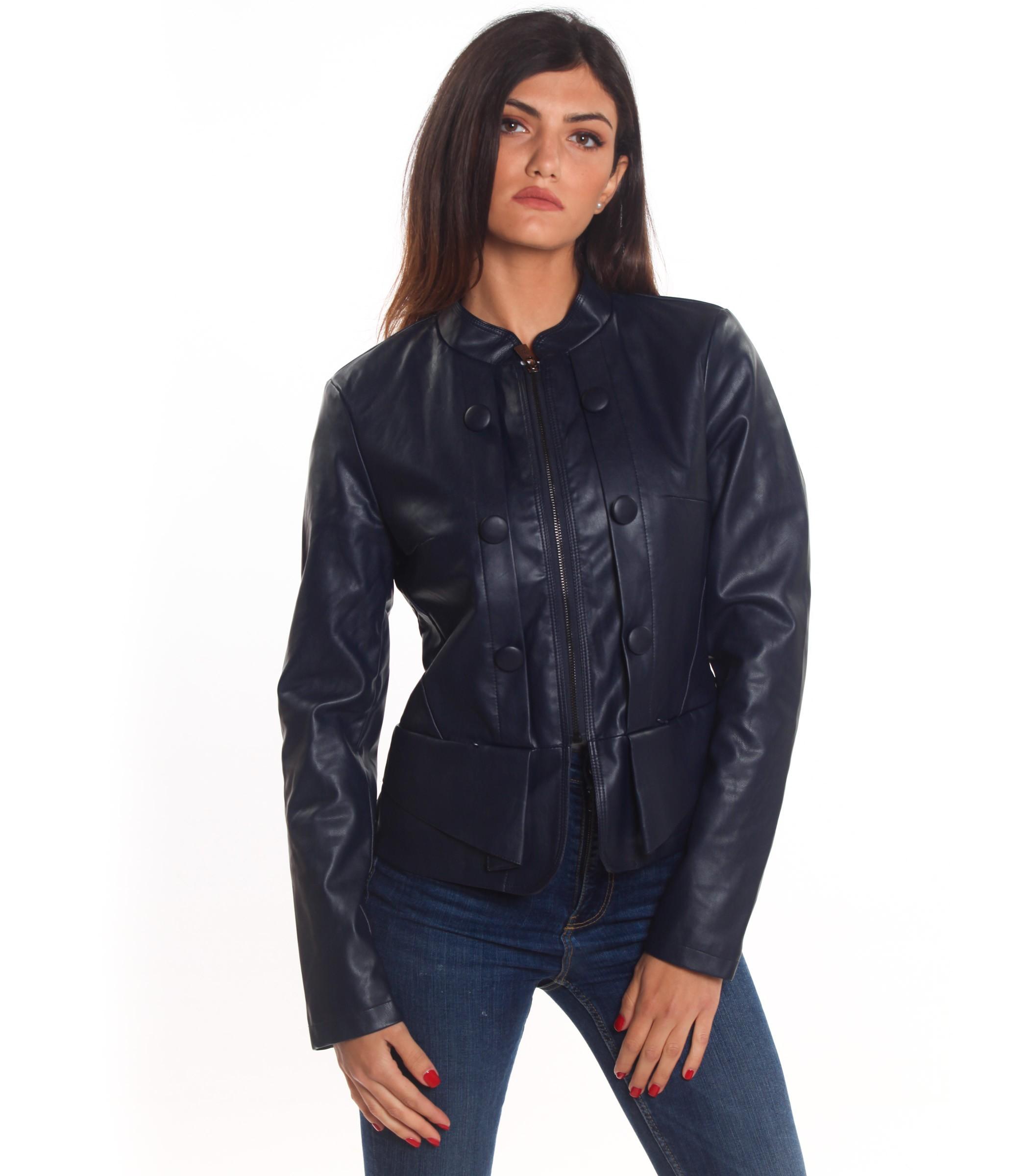 online retailer 90261 9f48e Giubbotto Giubbino Giacca Yes Zee in eco pelle da donna rif ...