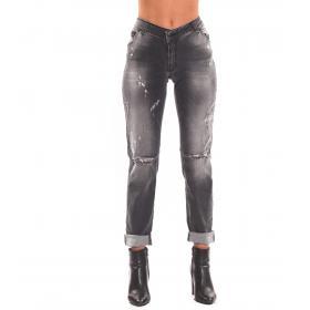 Pantaloni Jeans 5 tasche H.U.N.T. Skinny fit effetto slavato da donna. rif. HDC802