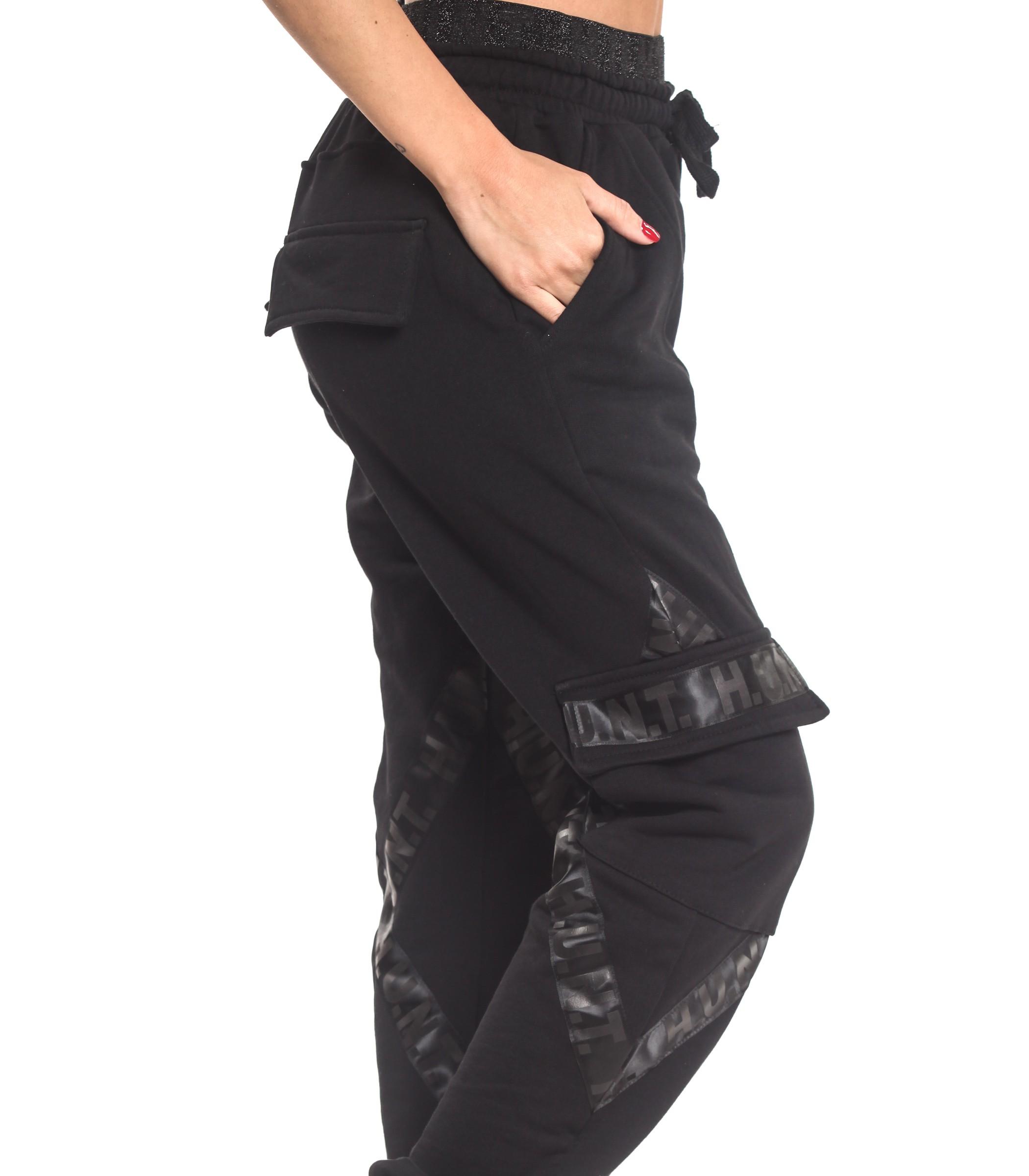 enorme inventario materiali superiori ben noto Pantaloni della tuta cargo H.U.N.T. con tasconi laterali ...