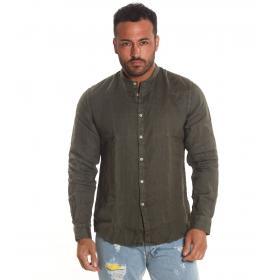 Camicia OUTFIT di lino con collo alla coreana da uomo rif. OF1SS19C001