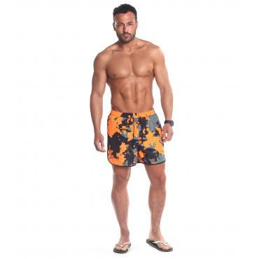 Costume Uomo Boxer Parental Advisory Fantasia Camouflage Arancione rif. AD07U