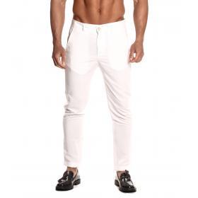 Pantaloni Over-d misto lino slim fit tasche america da uomo rif. OVD-CR71