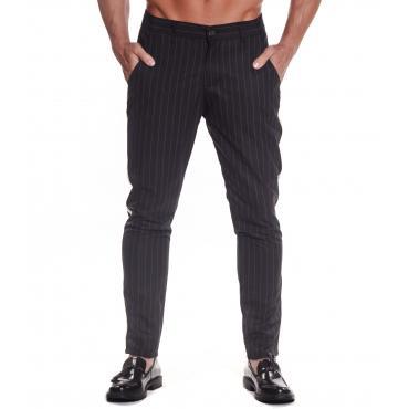 Pantaloni Over-d gessato con banda laterale da uomo rif. OD/1913
