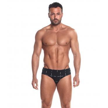 Slip da bagno Calvin Klein Swimwear con logo all over da uomo rif. KM0KM00254