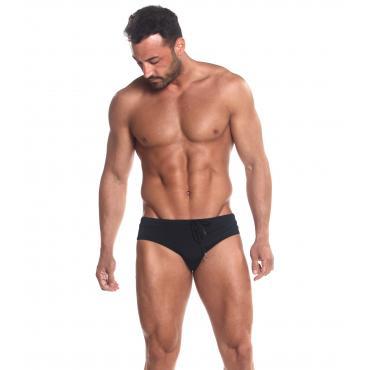 Slip da bagno Calvin Klein Swimwear con etichetta con logo sul retro da uomo rif. KM0KM00255