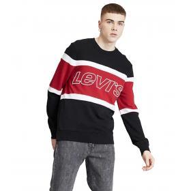 Felpa Levi's Pieced Crewneck Sweatshirt con logo da uomo rif. 79550-0000