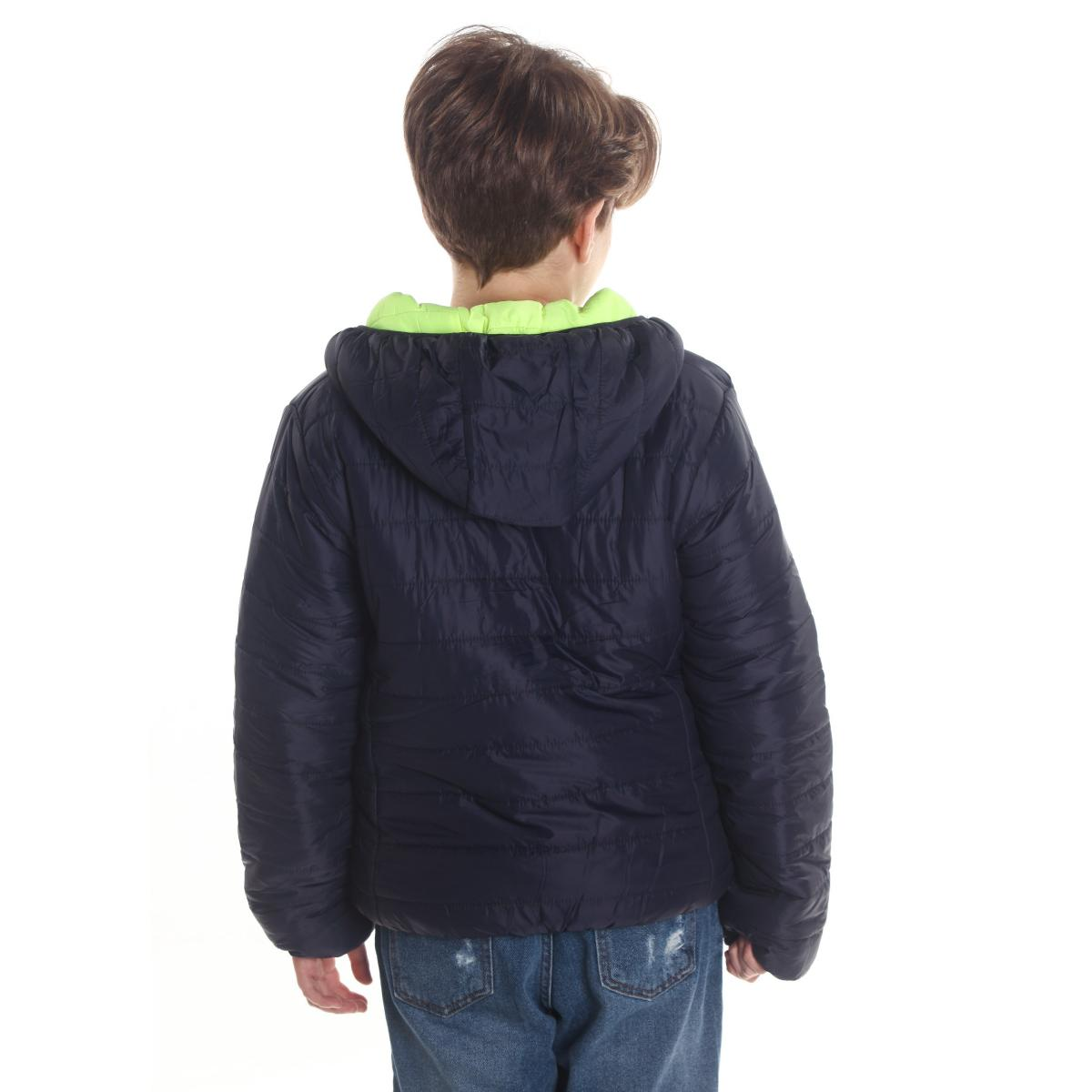 Giubbotto piumino 100 grammi double face con cappuccio da bambino rif. Z413J