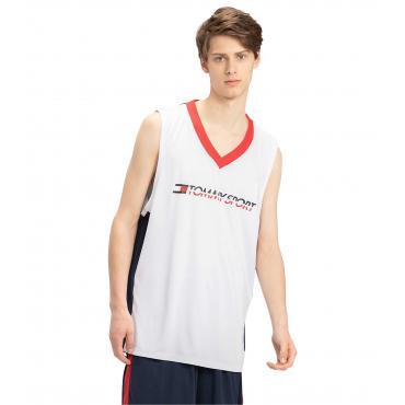 Canotta t-shirt Tommy Sport con scollo a V e stampa da uomo rif. S20S200083