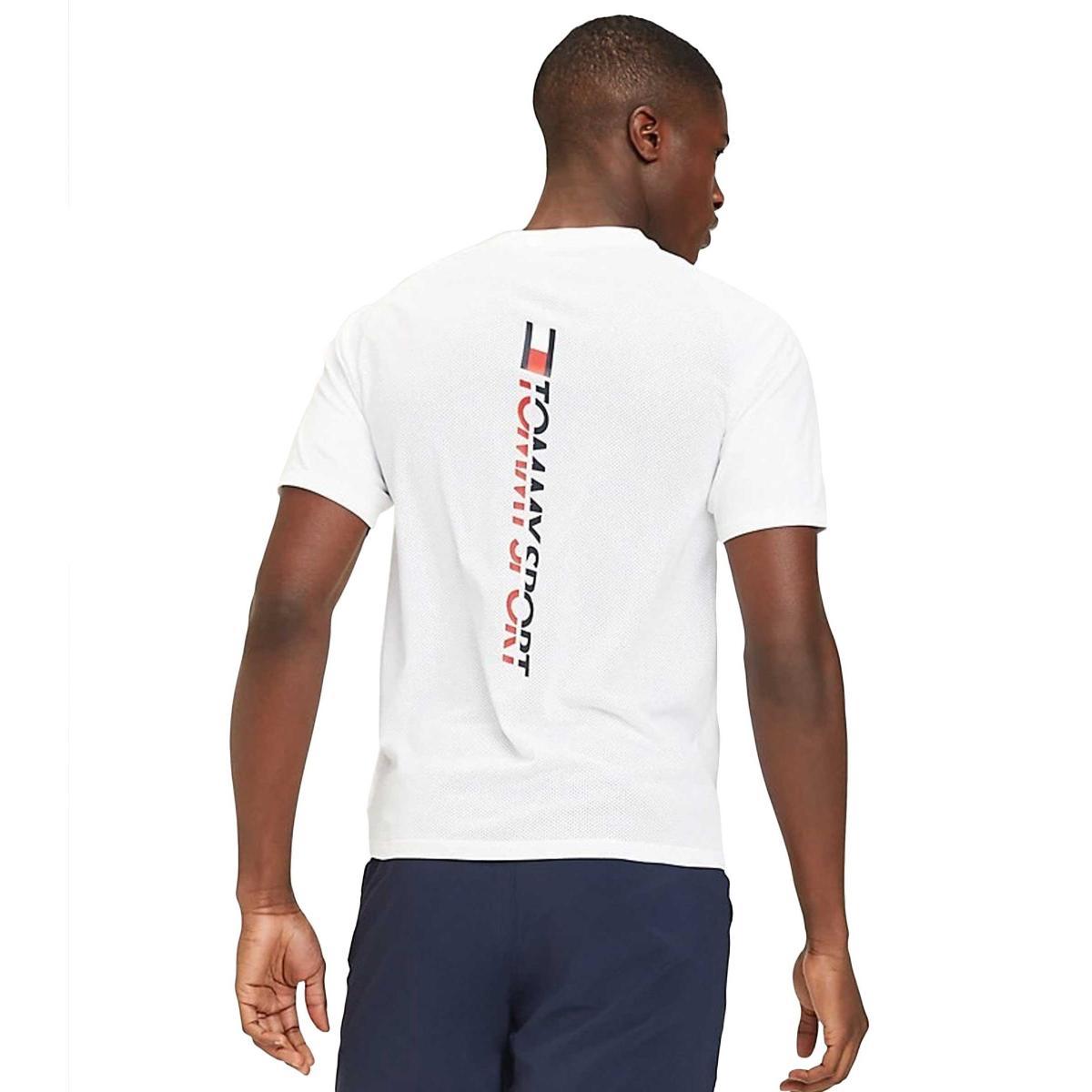 T-shirt Tommy Sport con logo e rete sul retro da uomo rif. S20S200055