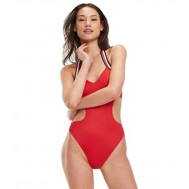 Costume da bagno intero Tommy Hilfiger iconico con cut out da donna rif. UW0UW01430