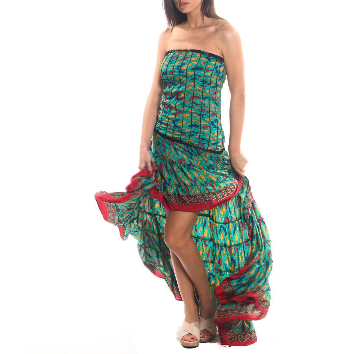 Vestito abito Moda Ibiza a fantasia da donna rif. PW28
