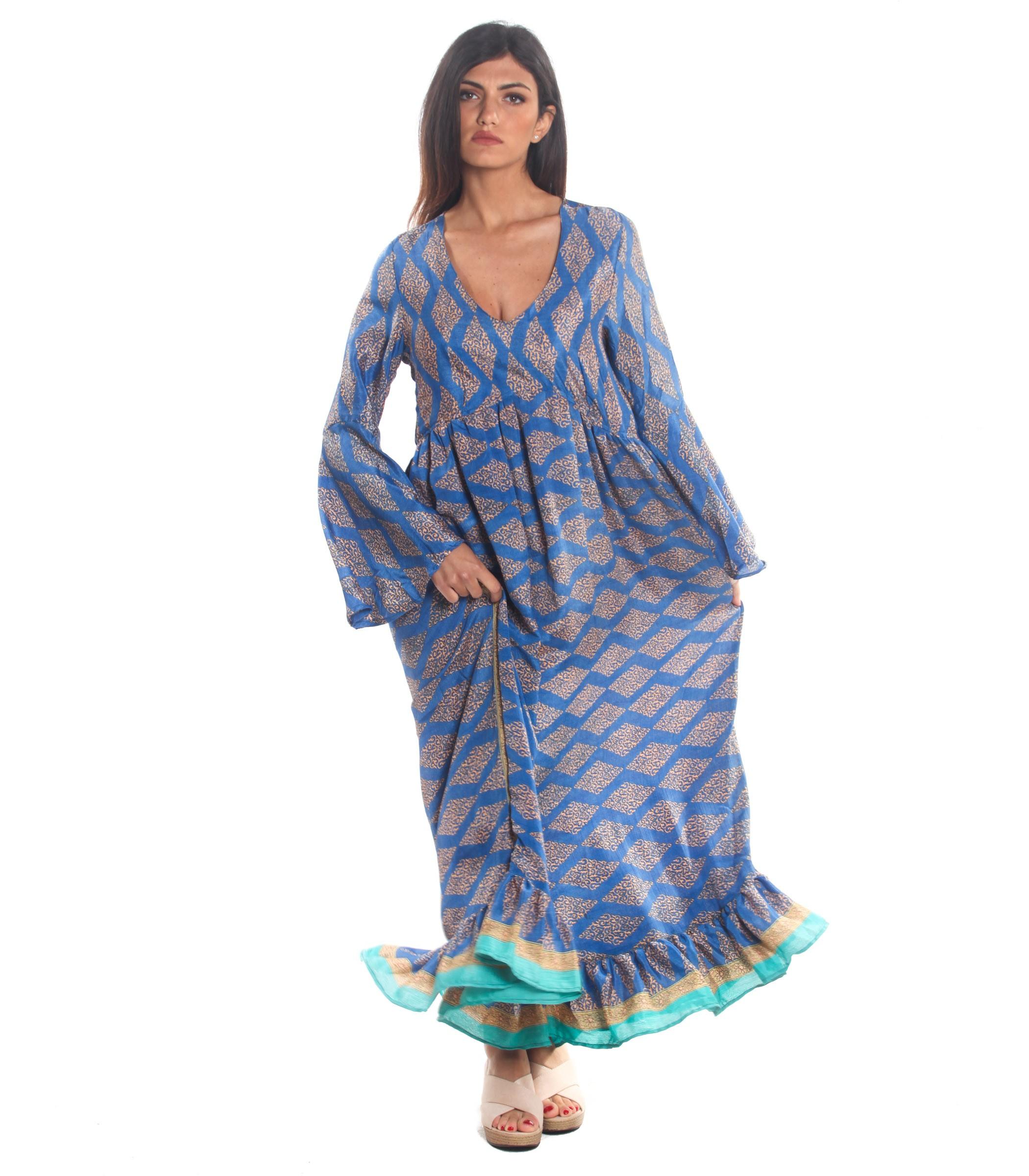 finest selection 996f7 6e576 Vestito Abito Moda Ibiza a fantasia multicolore da donna rif ...