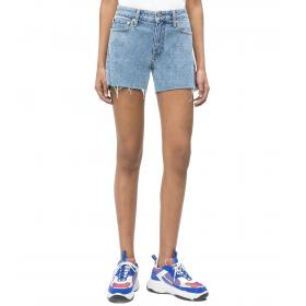 Pantaloncini shorts Calvin Klein Jeans in denim a vita media da donna rif. J20J212038