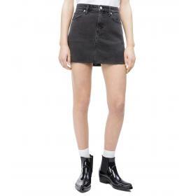 Minigonna Calvin Klein Jeans in denim con logo ricamato da donna rif. J20J211056