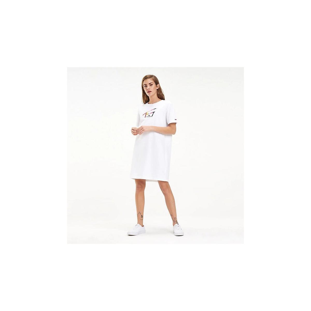 Abito t-shirt Tommy Jeans in puro cotone da donna rif. DW0DW06267
