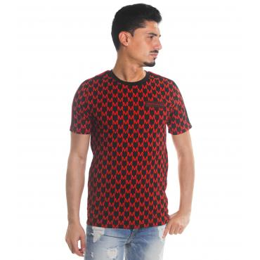 T-shirt MINIMAL girocollo con stampe da uomo rif. U2088