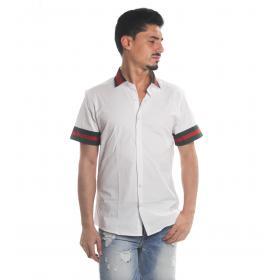 Camicia MINIMAL maniche corte con logo MNML su schiena rif. U2138