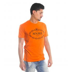 T-shirt MINIMAL fluo in cotone girocollo con stampa da uomo rif. U2151
