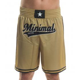 Bermuda shorts MINIMAL con bande laterali e stampa logo frontale da uomo rif. U2157