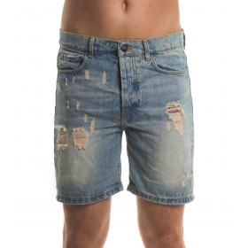 Bermuda shorts MINIMAL di jeans con strappi da uomo rif. U2161