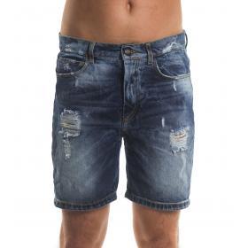 Bermuda shorts MINIMAL di jeans con strappi da uomo rif. U2162