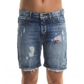 Bermuda shorts MINIMAL di jeans con strappi da uomo rif. U2166