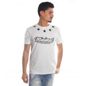 T-shirt MINIMAL in cotone girocollo con stampe da uomo rif. 2167