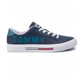 Scarpe Sneakers Tommy Jeans in pelle con logo cut out da uomo rif. EM0EM00291