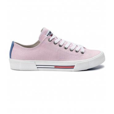 Scarpe Sneakers Tommy Jeans basse classics in tela da donna rif. EN0EN00590