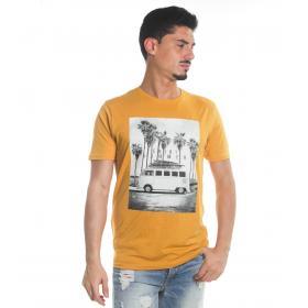 T-Shirt Tony Montoro girocollo in cotone con stampa da uomo rif. 1908