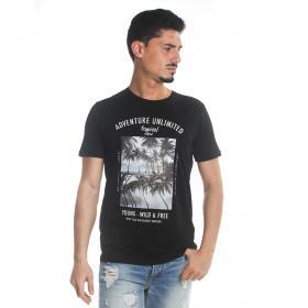 T-Shirt Tony Montoro girocollo in cotone con stampa da uomo rif. 1910