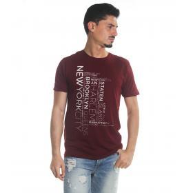 T-Shirt Tony Montoro girocollo in cotone con stampa da uomo rif. 1914