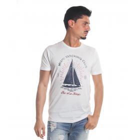 T-Shirt Tony Montoro girocollo in cotone con stampa da uomo rif. 1918