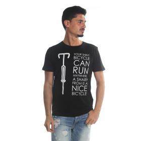 T-Shirt Tony Montoro girocollo in cotone con stampa da uomo rif. 1920