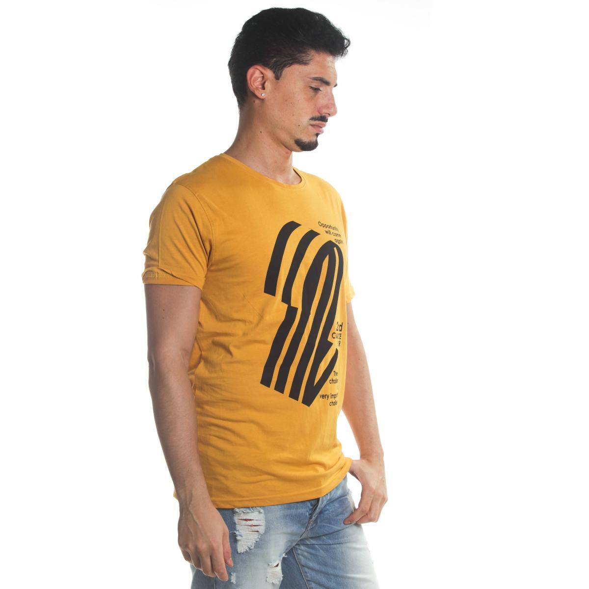 T-Shirt Tony Montoro girocollo in cotone con stampa da uomo rif. 1923