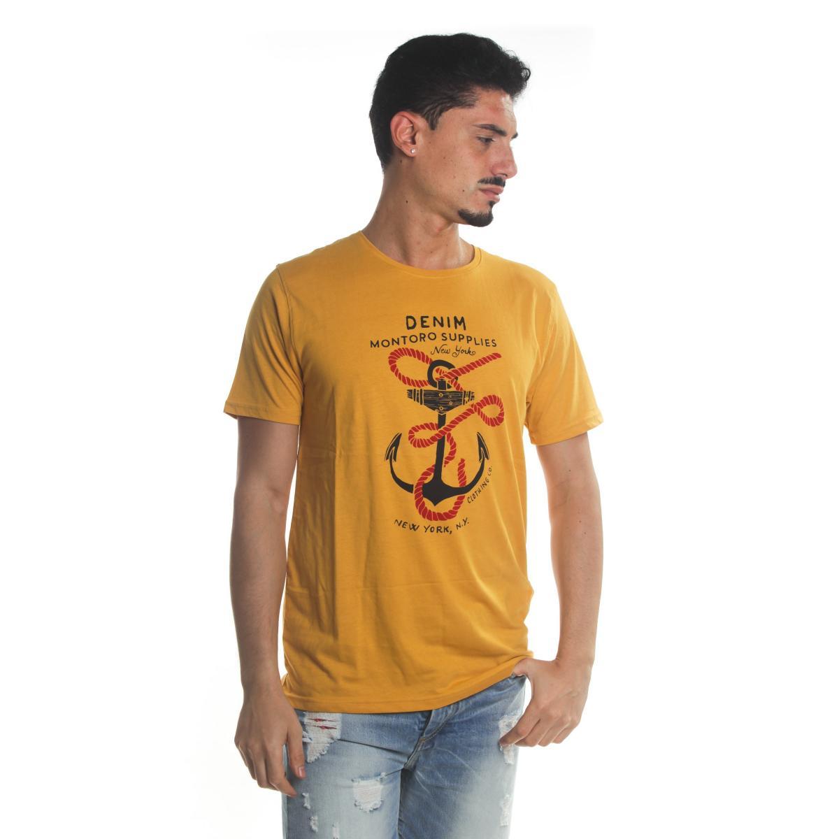 T-Shirt Tony Montoro girocollo in cotone con stampa da uomo rif. 1926